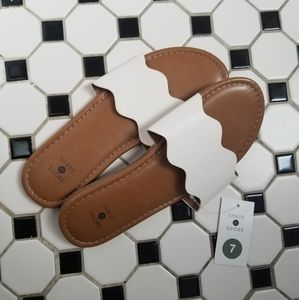 White and Brown sandals